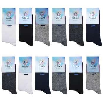جوراب مردانه ماییلدا کد 3416-120-4 مجموعه 12 عددی