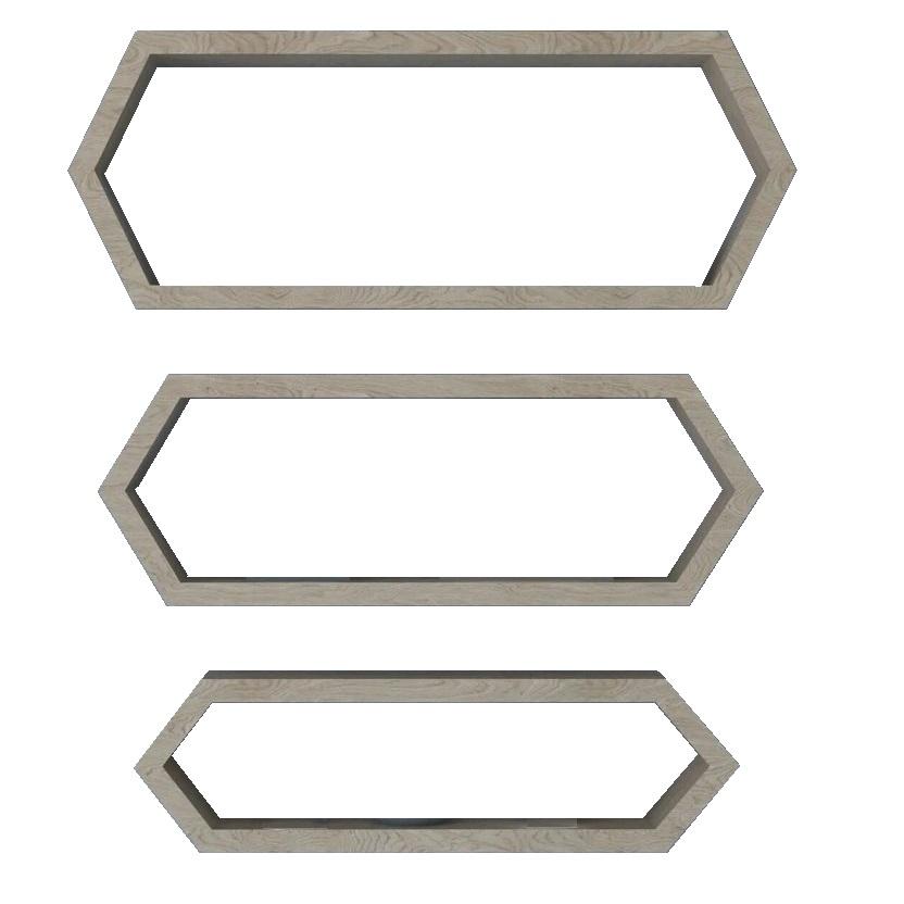 شلف دیواری مدل L10 مجموعه 3 عددی