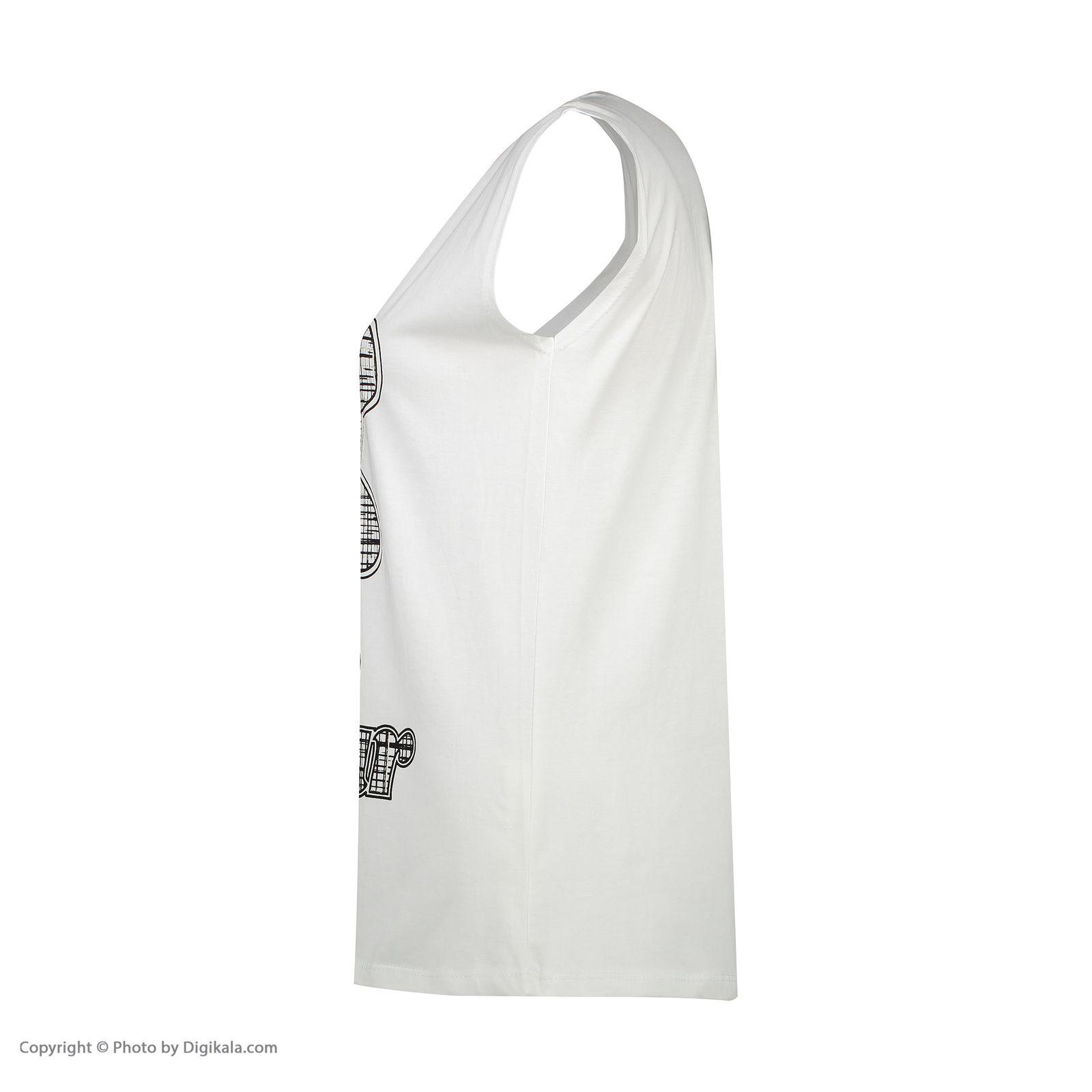 ست تاپ و شلوارک زنانه فمیلی ور طرح خرسی کد 0221 رنگ سفید -  - 8