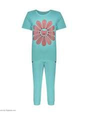 ست تی شرت و شلوارک راحتی زنانه مادر مدل 2041101-54 -  - 2