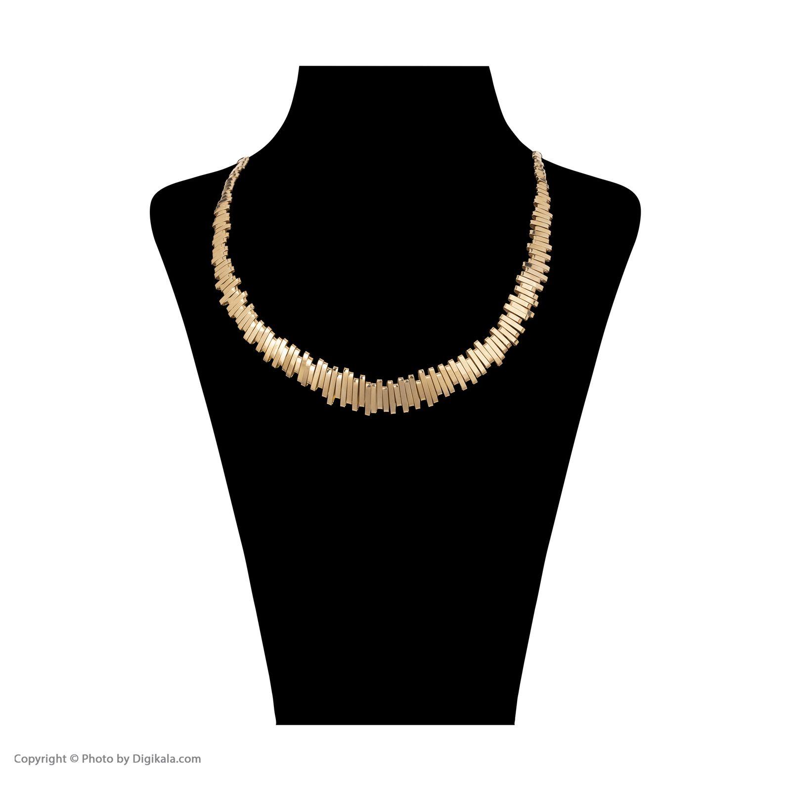 گردنبند طلا 18 عیار زنانه سنجاق مدل X069550 -  - 2