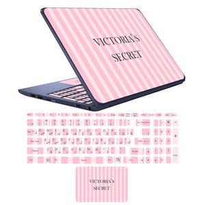 استیکر لپ تاپ مدل victoria secret مناسب برای لپ تاپ 17 اینچ به همراه برچسب حروف فارسی کیبورد