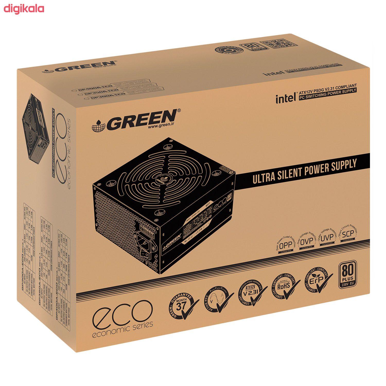 منبع تغذیه کامپیوتر گرین مدل GP300A-ECO Rev3.1 main 1 3