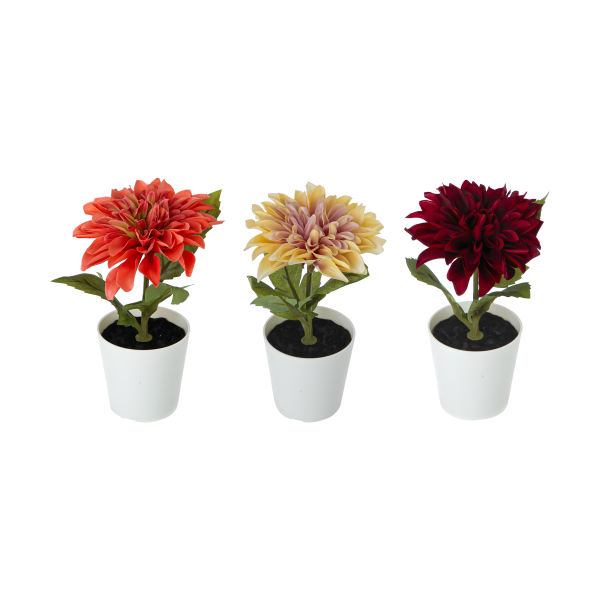 گلدان به همراه گل مصنوعی ایکیا مدل FEJKA مجموعه 3 عددی