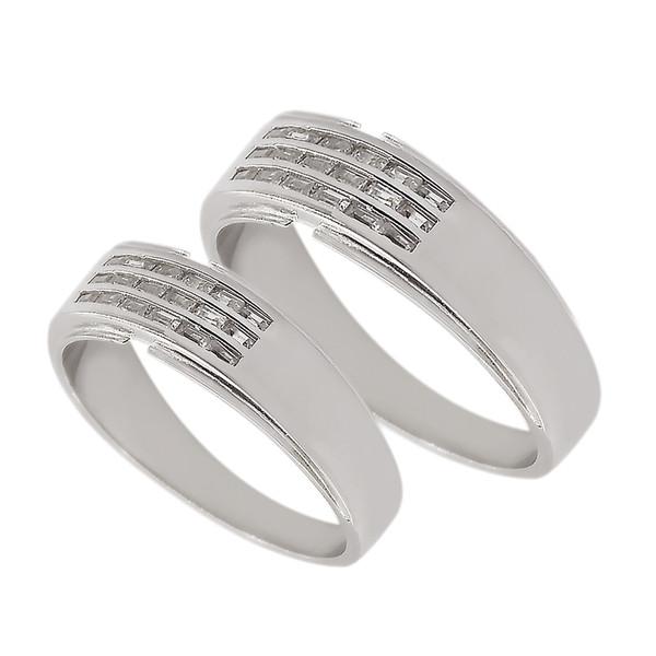 ست انگشتر نقره زنانه و مردانه مدل dfg34111