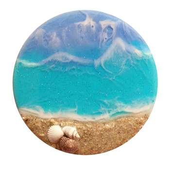 زیر لیوانی مدل موج و ساحل