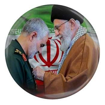 پیکسل طرح رهبر حضرت خامنه ای و سردار شهید حاج قاسم سلیمانی مدل S2182