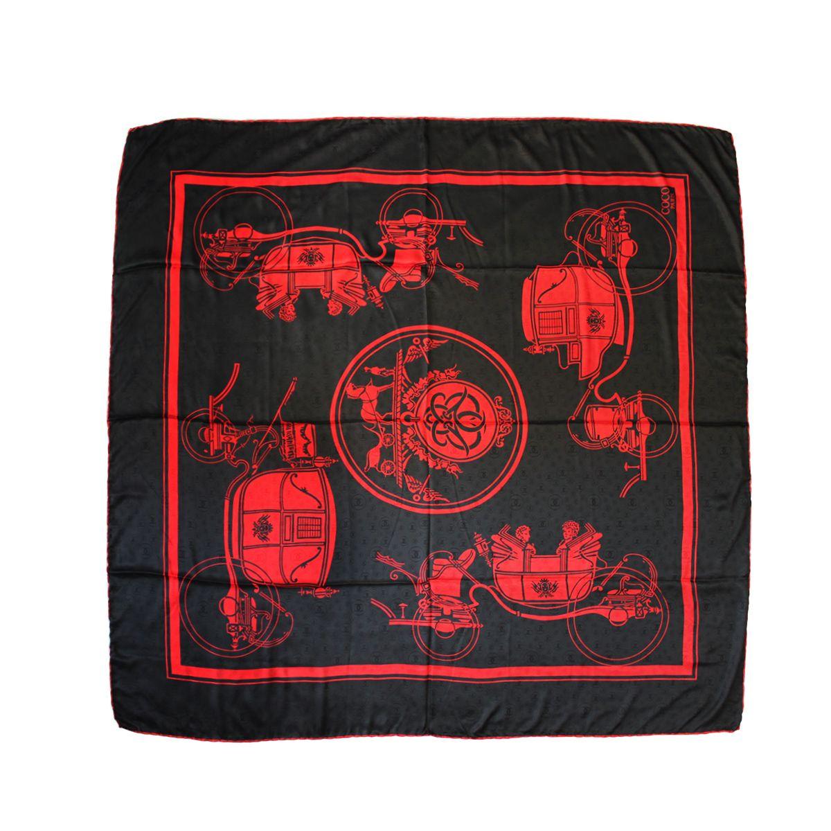 روسری زنانه کوکو طرح درشکه کد 3952 -  - 5
