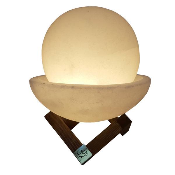 آباژور سنگ نمک طب سنگ طرح ماه گل کد 1020