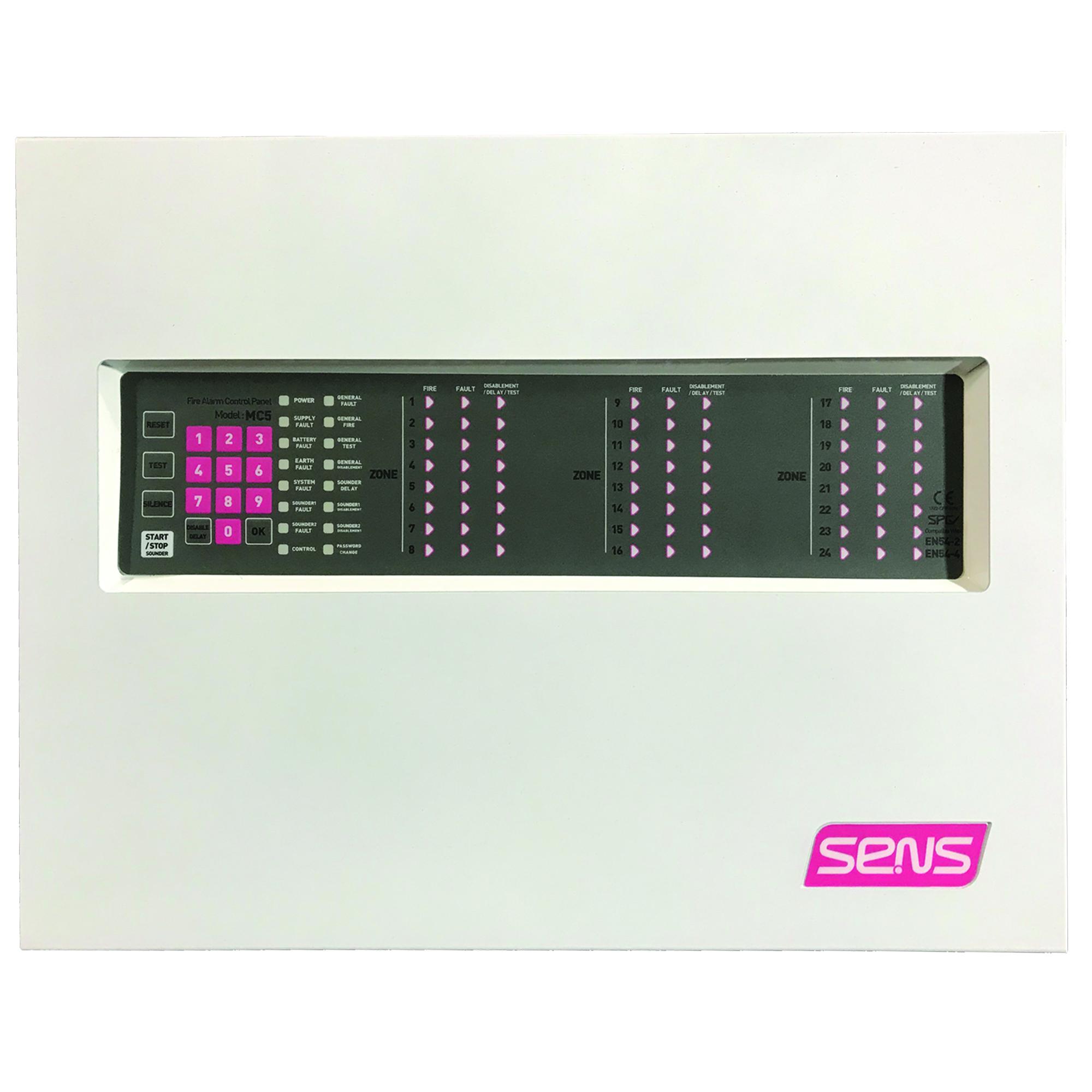 مرکز کنترل اعلام حریق سنس مدل MC5-8z