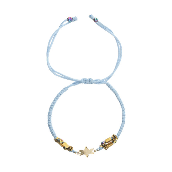 دستبند طلا 18 عیار زنانه نیوانی مدل Ba1008