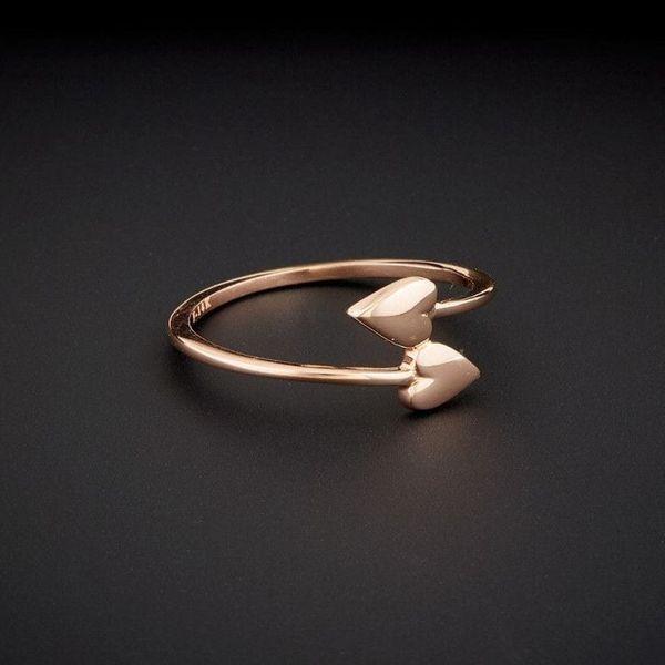 انگشتر طلا 18 عیار زنانه قیراط طرح قلب کد GH582