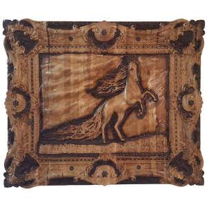 تابلو منبت کاری مدل اسب یالدار
