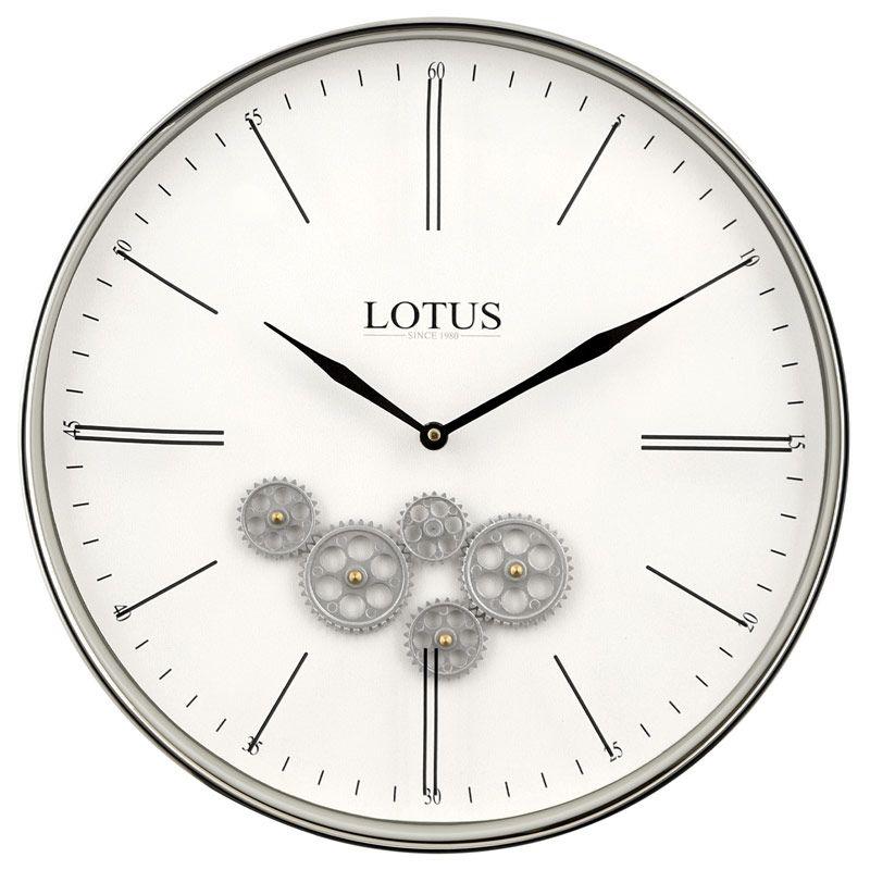 ساعت دیواری لوتوس مدل 300310 سیلور
