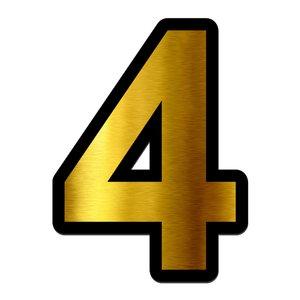 تابلو راهنما آژنگ طرح مستطیل مدل شماره و اعداد کد NO-4