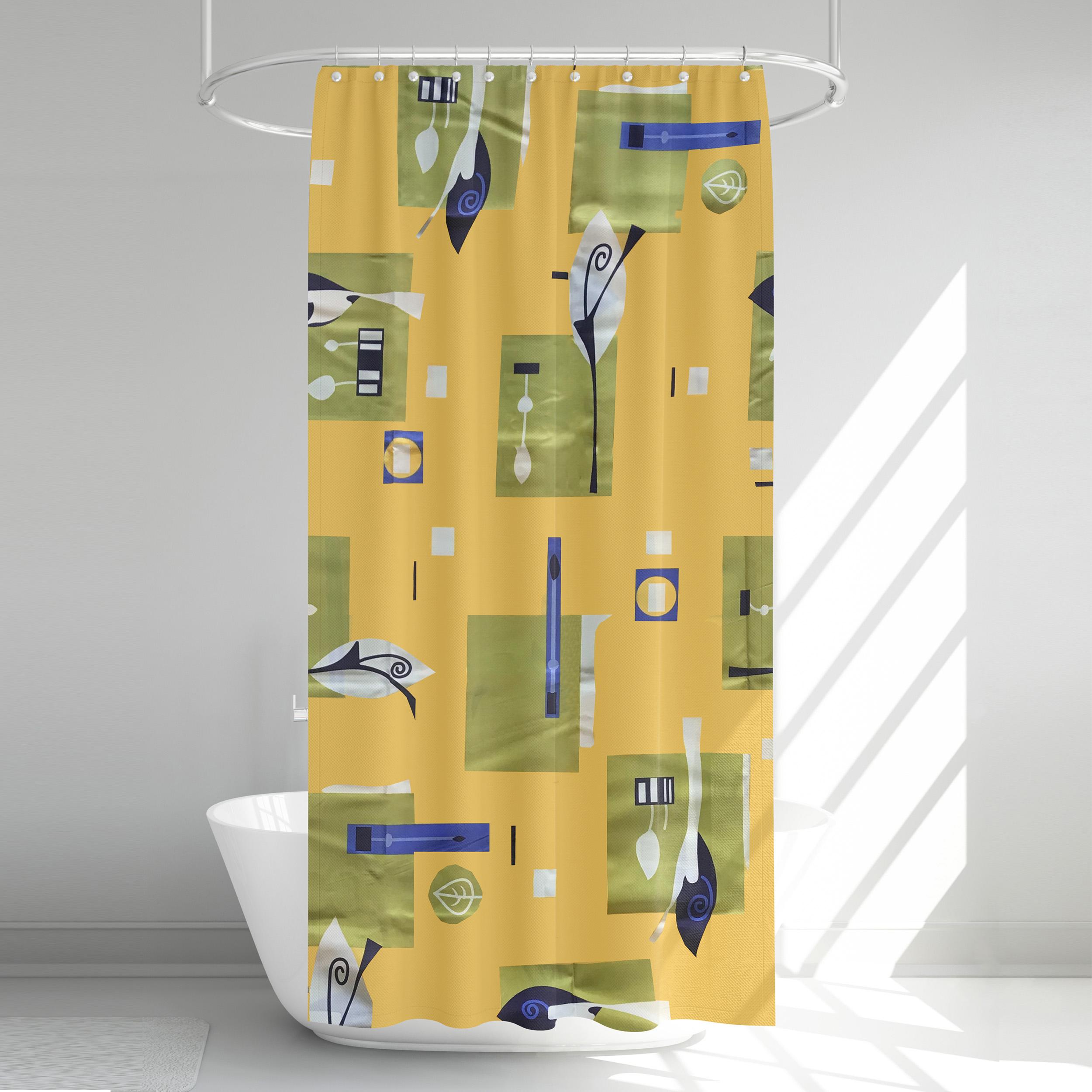 پرده حمام آرمیتا کد W004 سایز 180 × 200 سانتی متر
