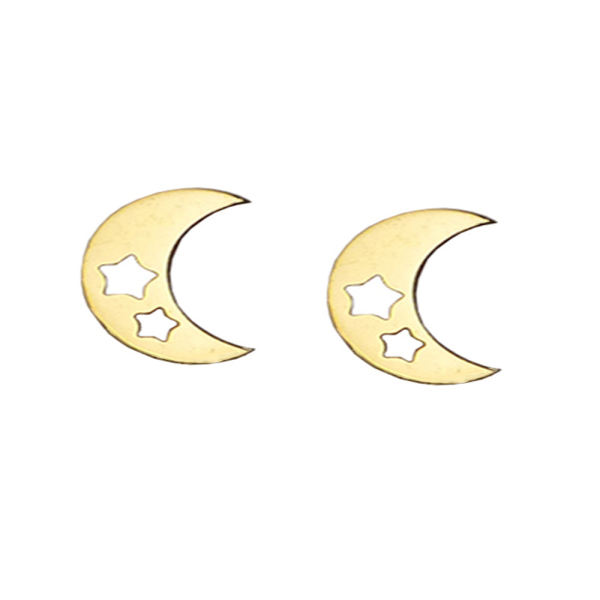 گوشواره زنانه طرح ماه و ستاره کد Hachachi 019
