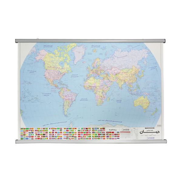 نقشه سیاسی جهان گیتاشناسی نوین کد 1473 L