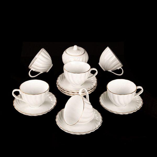 سرویس چای خوری 14 پارچه لمونژ مدل کارمن کد 659