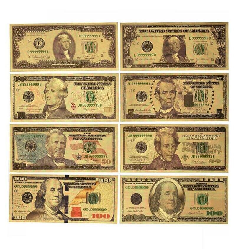 اسکناس تزئینی طرح دلار مجموعه 8 عددی