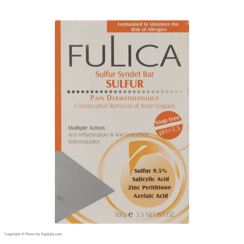 پن ضد جوش فولیکا مدل Sulfur وزن 100 گرم