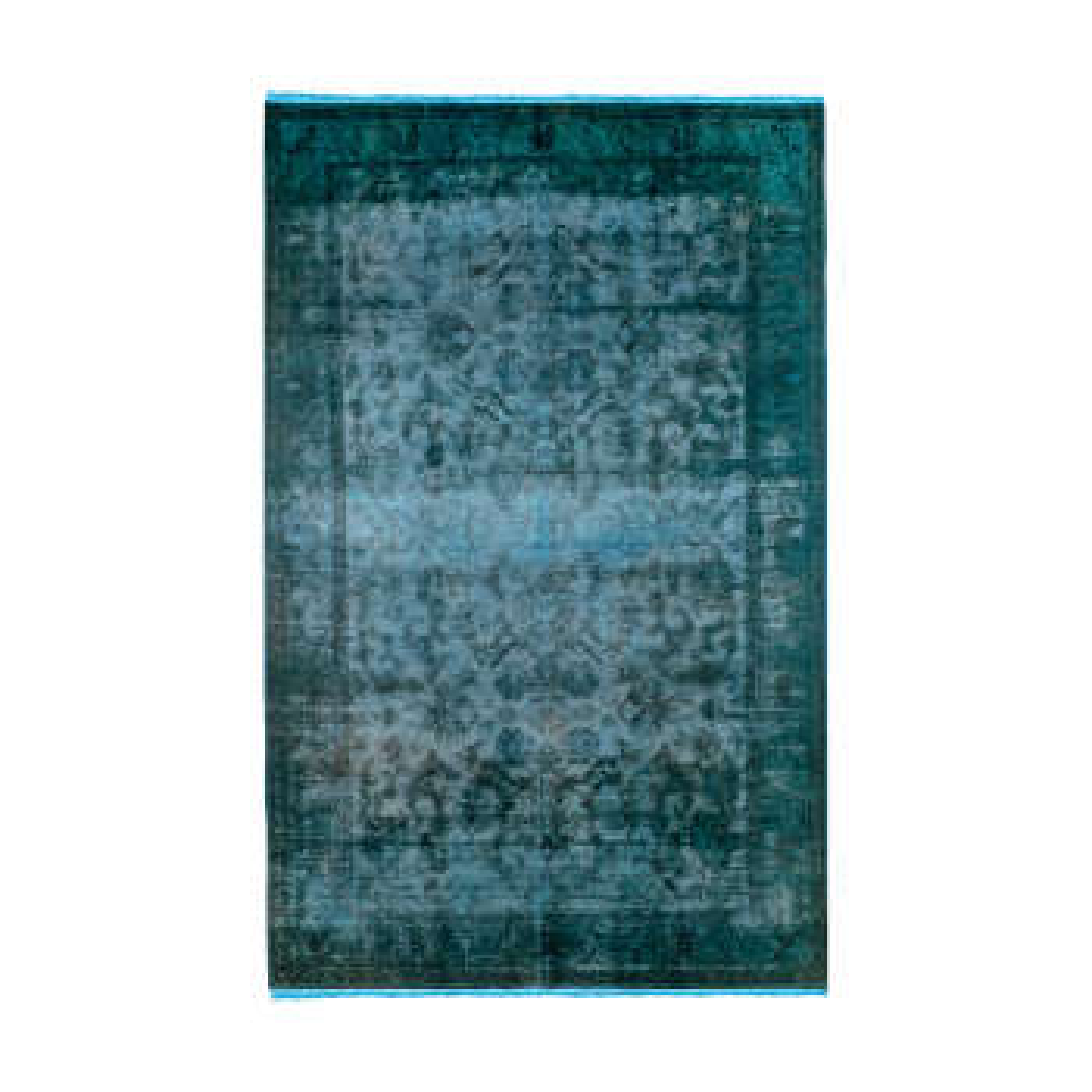 فرش دستبافت رنگ شده پنج و نیم متری کد 1340