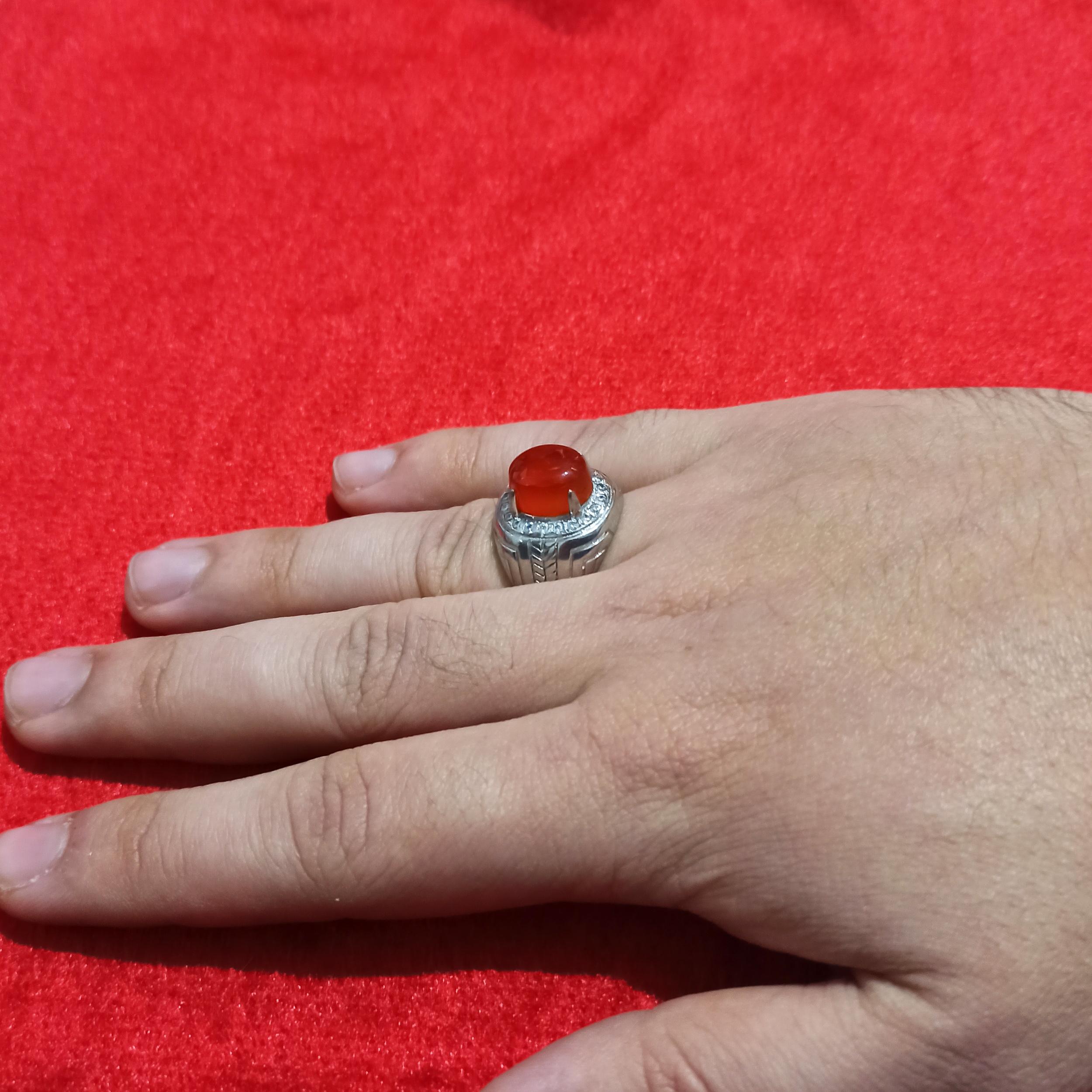 انگشتر نقره مردانه سلین کالا مدل عقیق ce-sha3