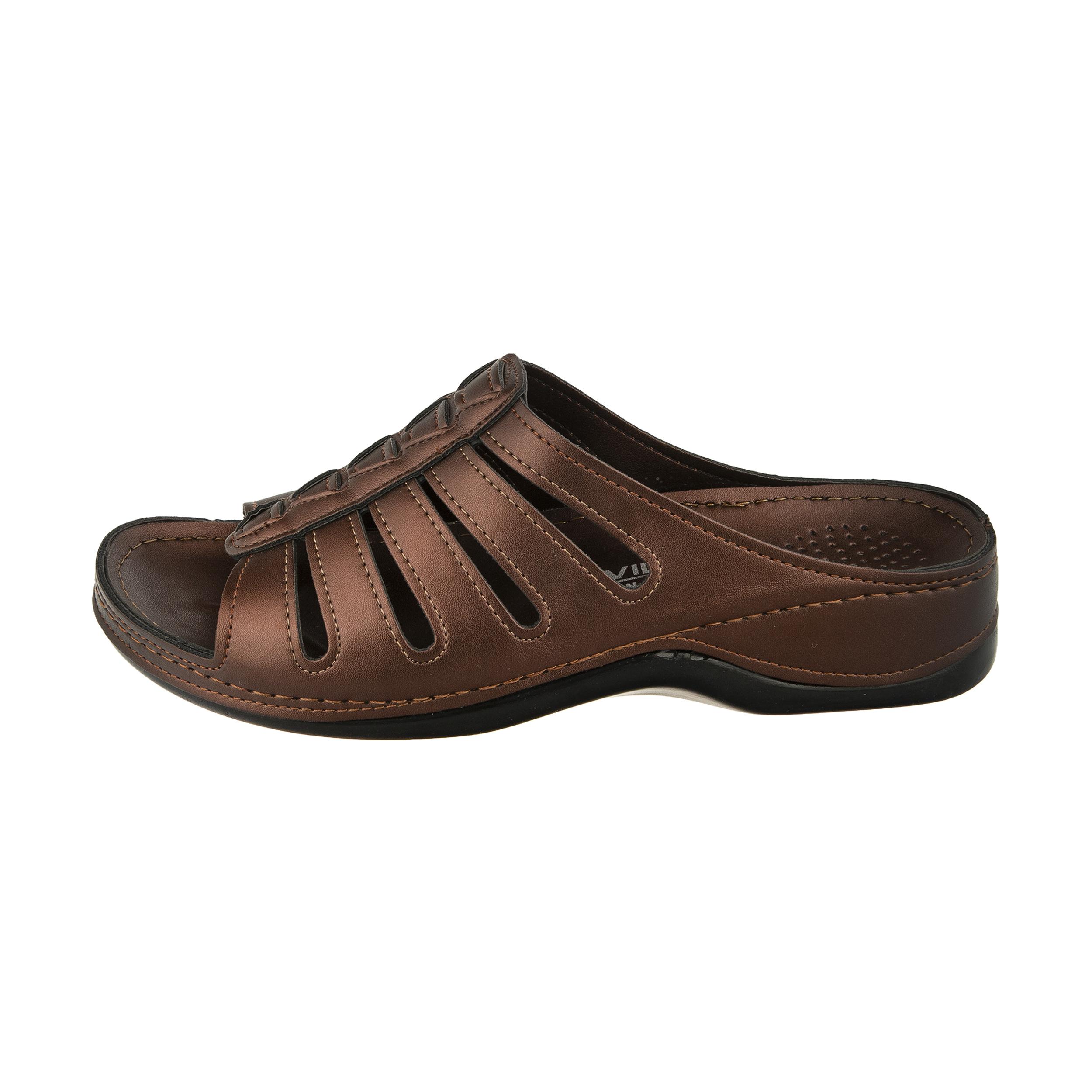 دمپایی زنانه کفش آویده کد av-0304212 رنگ مسی -  - 2