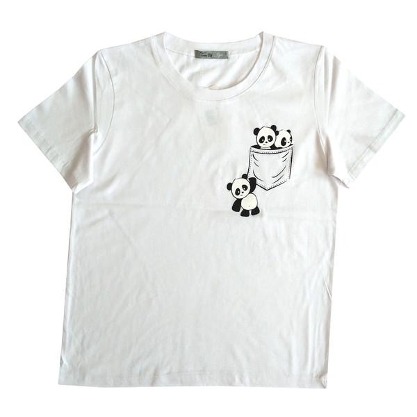 تی شرت زنانه طرح پاندا مدل 3242