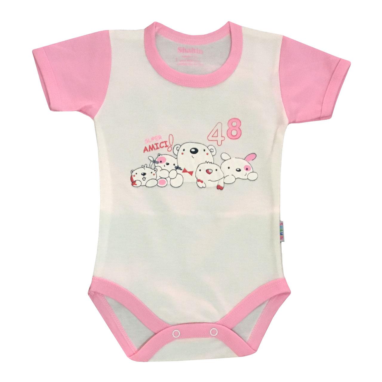 ست 3 تکه لباس نوزادی دخترانه شاهین طرح امیکی کد k -  - 3