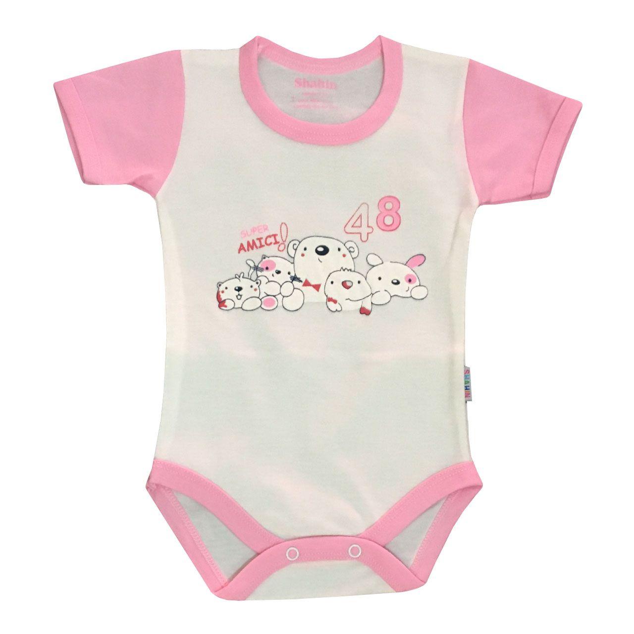 ست 3 تکه لباس نوزادی دخترانه شاهین طرح امیکی کد T -  - 4