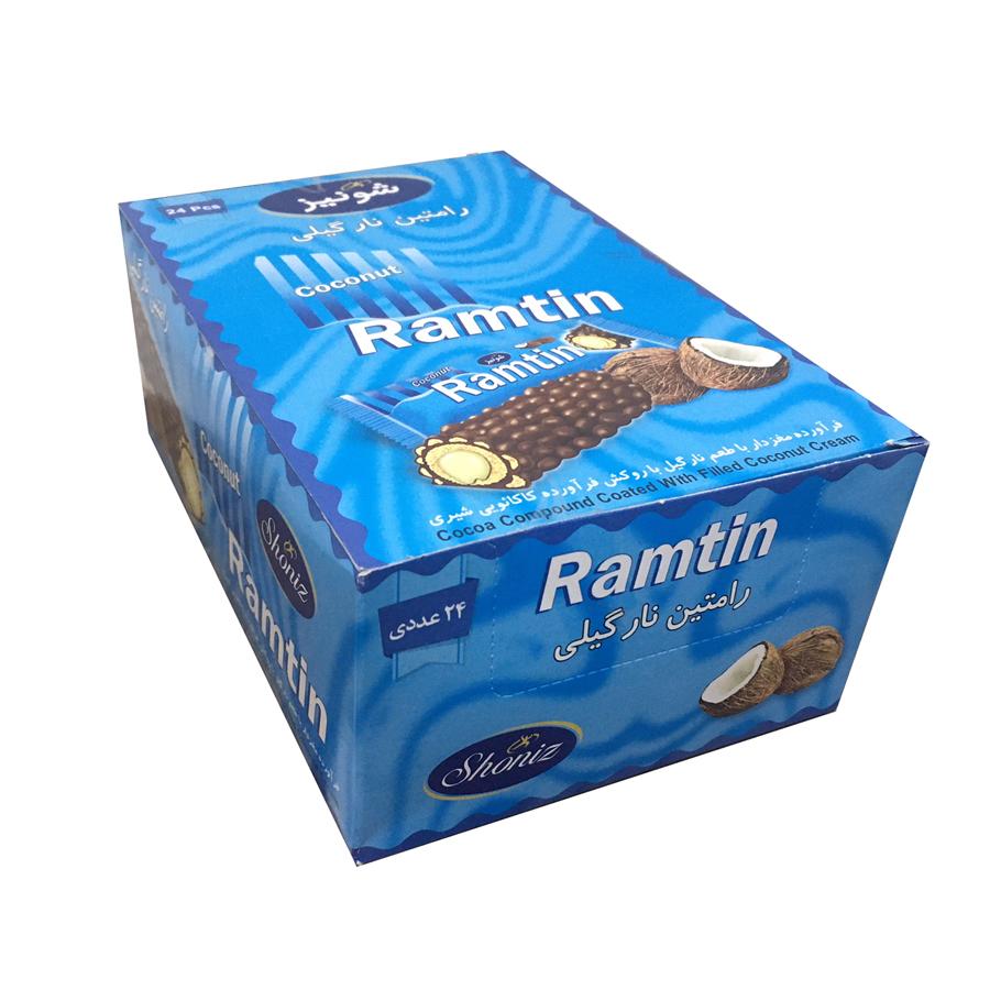 شکلات رامتین نارگیلی شونیز - 19 گرم بسته 24 عددی