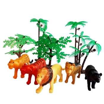 فیگور مدل حیوانات جنگل مجموعه 10 عددی