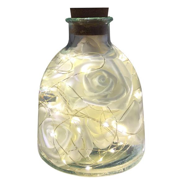 چراغ رومیزی مدل بطری گل رز کد 98