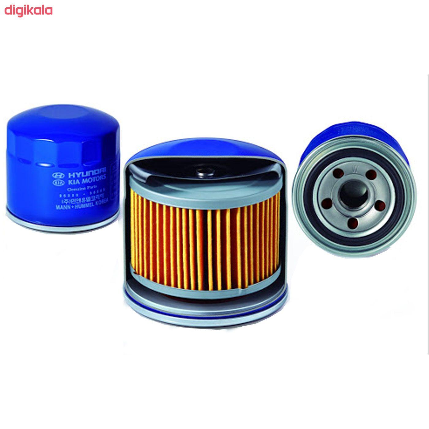 فیلتر روغن خودرو هیوندای جنیون پارتس مدل 35505 main 1 2