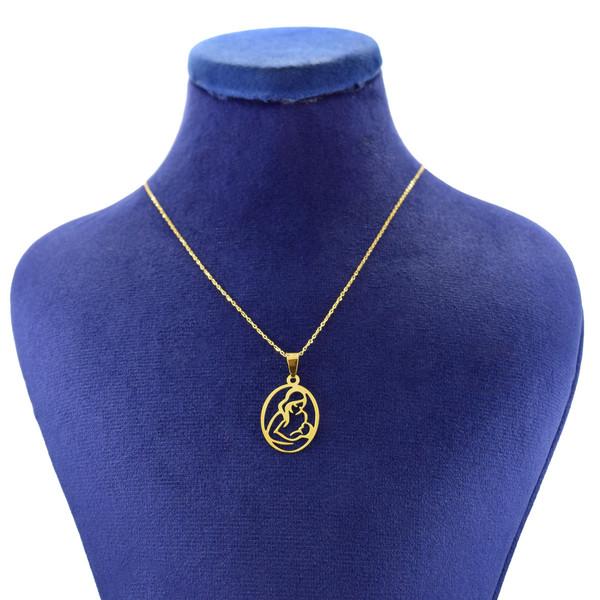 گردنبند طلا 18 عیار زنانه کانیار گالری طرح مادر مدل NE111