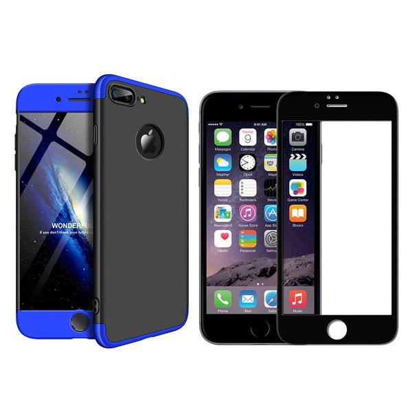 کاور 360 درجه ورلد ویو مدل WGK-WGF-1 مناسب برای گوشی موبایل اپل iPhone 7 Plus/8 Plus به همراه محافظ صفحه نمایش