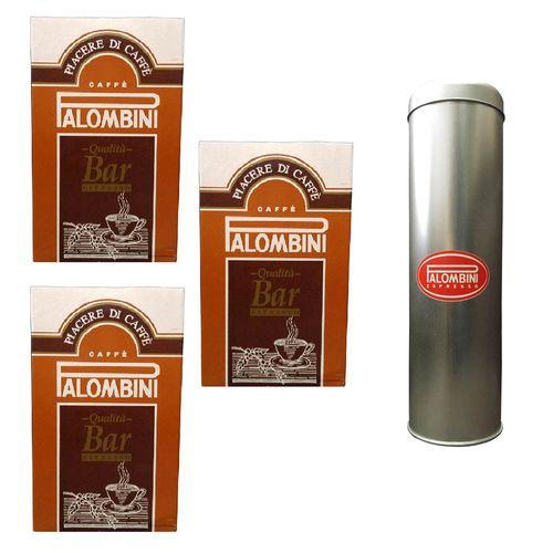 پودر قهوه آسیاب شده پالومبینی مدل Bar Espresso بسته 3 عددی
