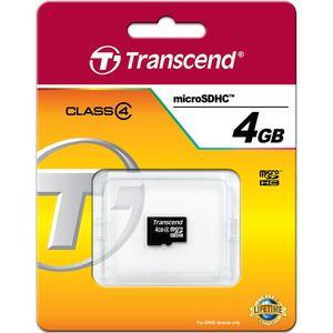 کارت حافظه microSDHC ترنسند کلاس 4 ظرفیت 4 گیگابایت