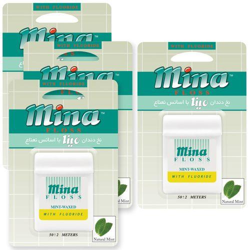 نخ دندان مینا مدل Mint بسته 4 عددی