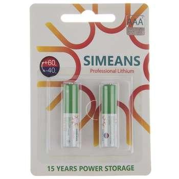 باتری نیم قلمی سایمینس مدل Professional Lithium بسته 2 عددی