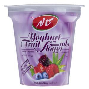 ماست میوه ای با طعم آلوورا و میوه های جنگلی کاله مقدار 125 گرم