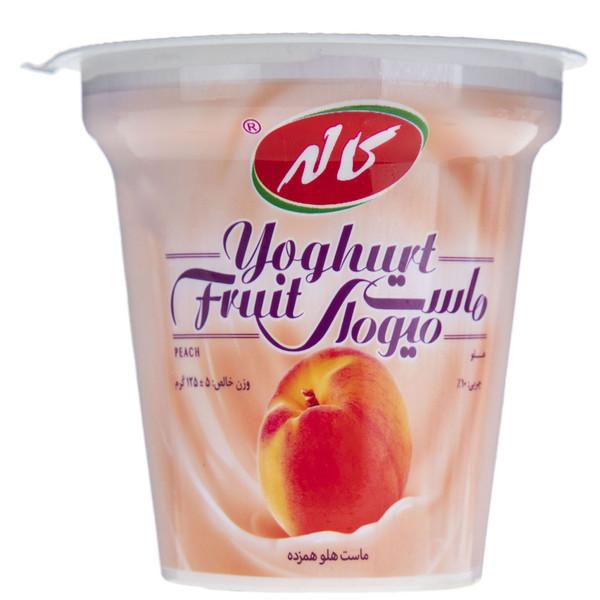 ماست میوه ای با طعم هلو کاله مقدار 125 گرم