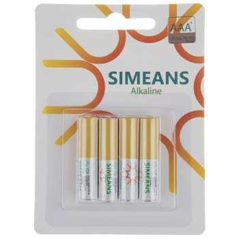 باتری نیم قلمی سایمینس مدل Alkline بسته 4 عددی