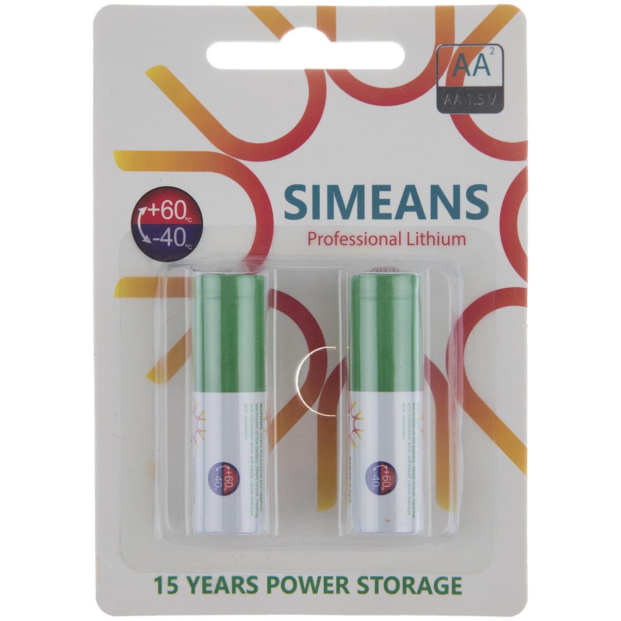 باتری قلمی سایمینس مدل Professional Lithium بسته 2 عددی