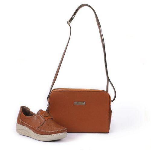 ست کیف و کفش زنانه ساینا چرم مدل مونا