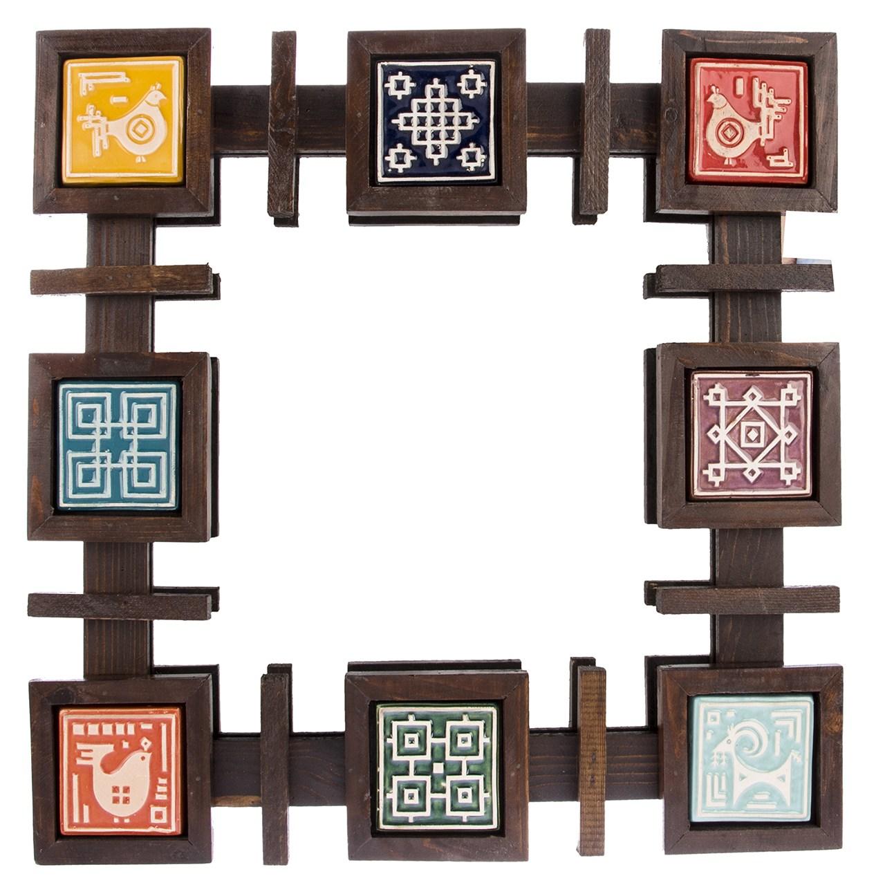 آینه گالری اسعدی طرح خشتی فرسکو کد 66070