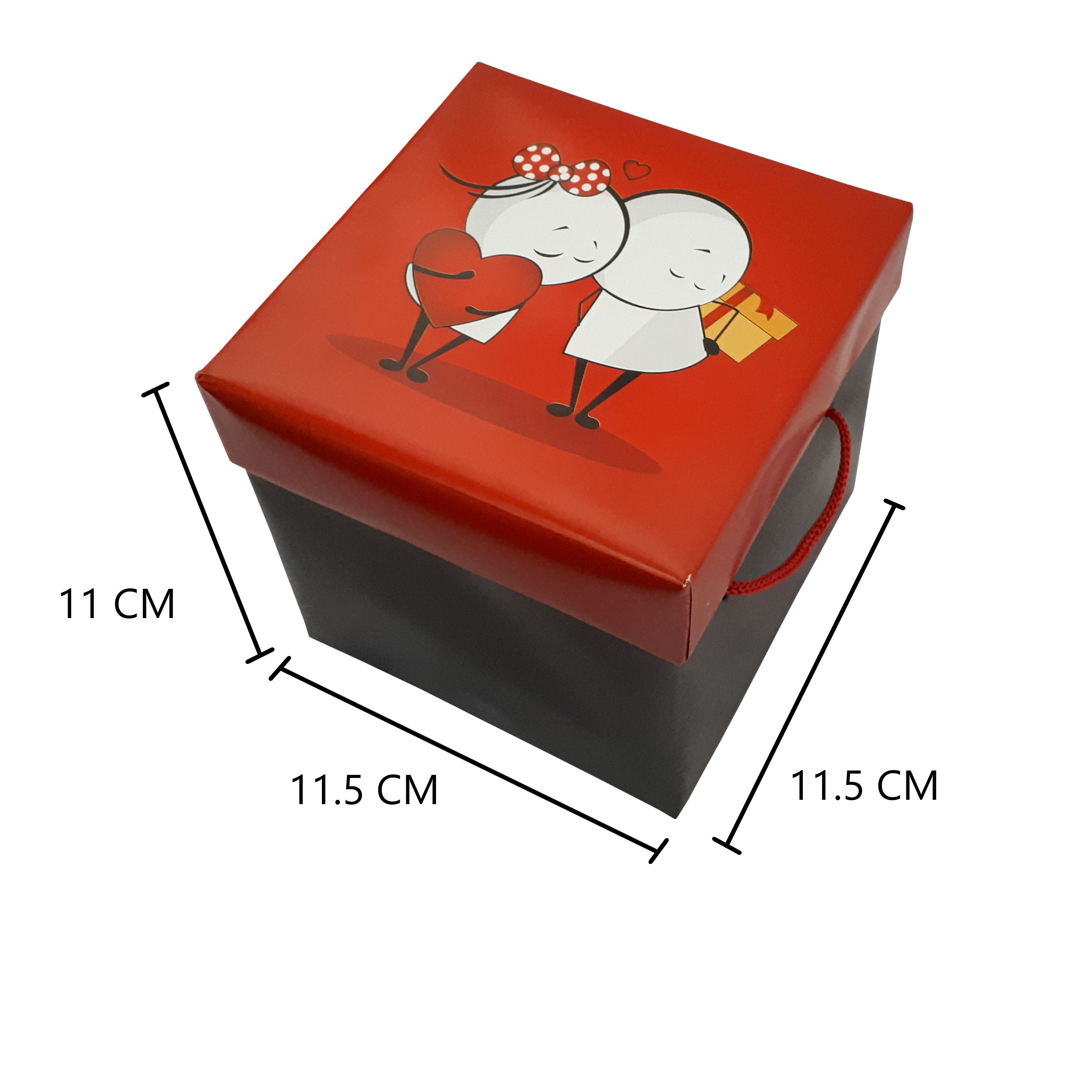 خرید                      جعبه هدیه طرح قلب کد 199510