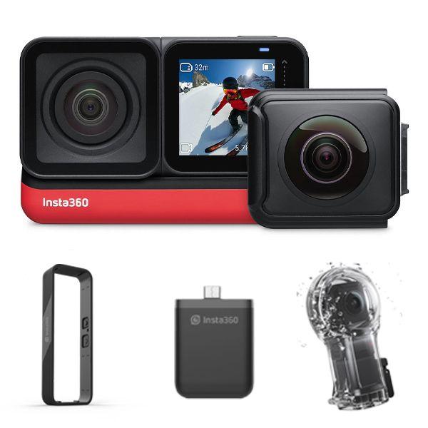 دوربین فیلم برداری ورزشی Insta360 مدل TWIN EDITION به همراه لوازم جانبی ضد آب غواصی
