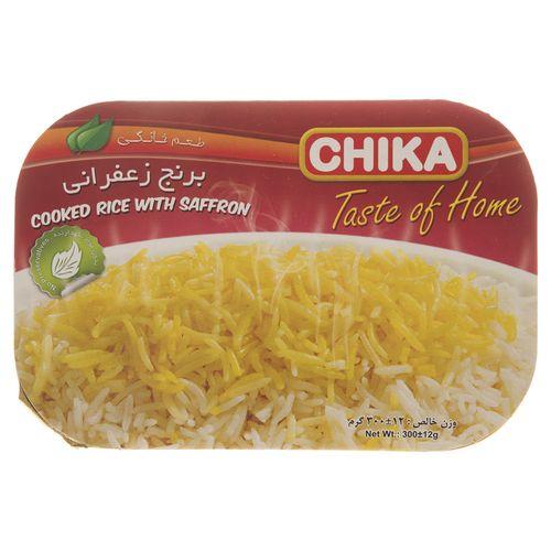 برنج زعفرانی چیکا مقدار 300 گرم